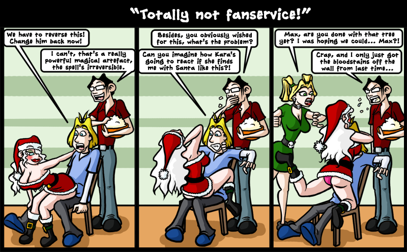 Totally not fanservice
