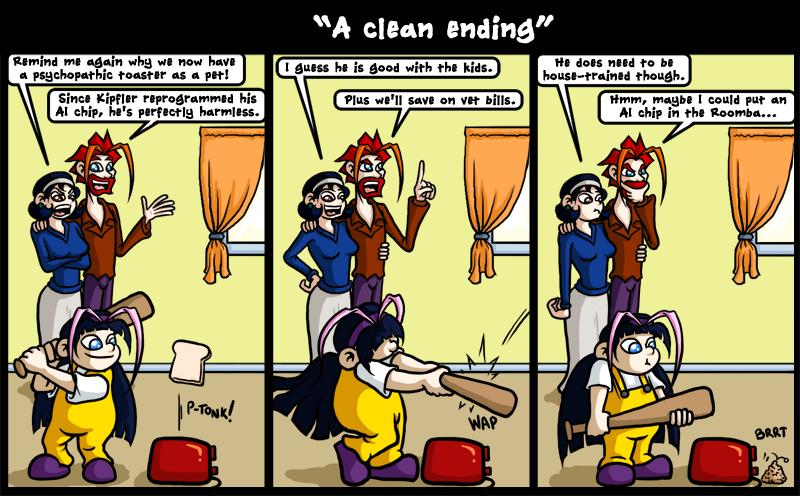 A clean ending